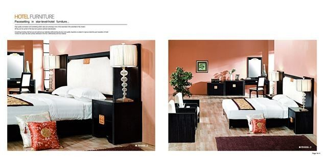 Ergonomic Hotel Bedroom Furniture Sets / Luxury Hotel Furniture Fashion Style