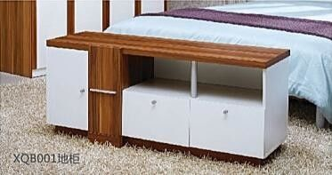 1.3m Simple Modern Style White TV Unit TV Stand With Three Drawers