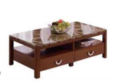 Modern Living Room Furniture Simple Coffee Table Marble Top Particle Board With Melamine