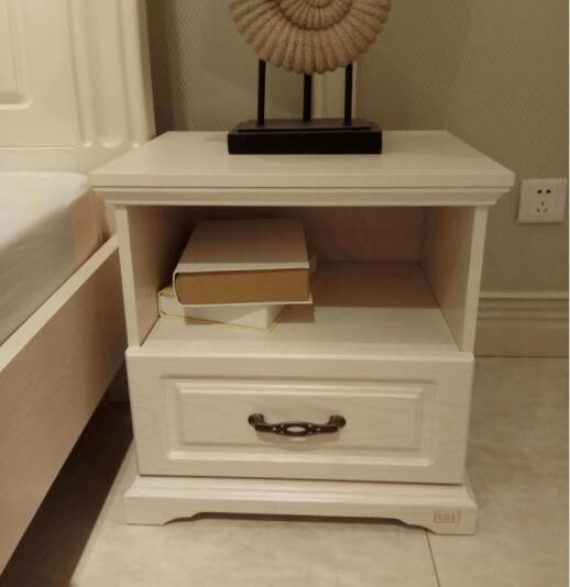 White Bedside Table Contemporary Bedroom Furniture / European Design Furniture